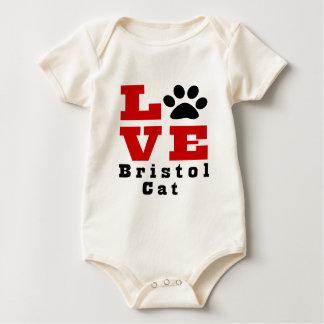 Love Bristol Cat Designes Baby Bodysuit