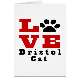 Love Bristol Cat Designes Card