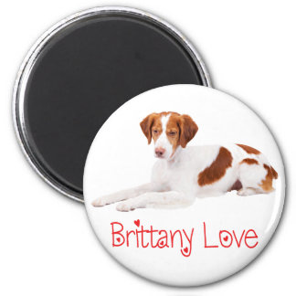 Love Brittany Spaniel Puppy Dog Magnet