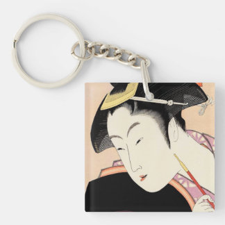 Love Brooding Selected Poems on the Theme of Love Single-Sided Square Acrylic Key Ring