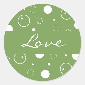 Love Bubbles Envelope Sticker Seal