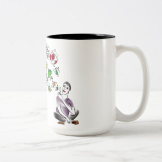 Love Bubbles Two-Tone Coffee Mug