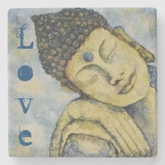 Love Buddha Art Stone Coaster