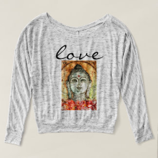 Love Buddha Watercolor Art Flowy Shirt