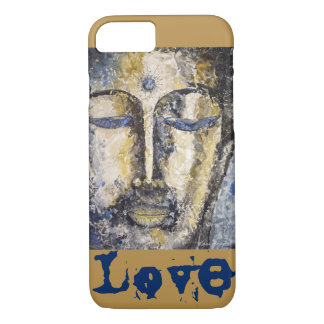 Love Buddha Watercolor Art iPhone Case