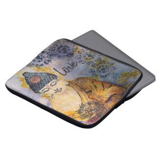 Love Buddha Watercolor Laptop Sleeve