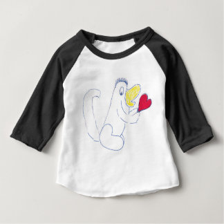 Love Bug American Apparel 3/4 Sleeve Raglan T-Shir Baby T-Shirt