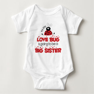 Love Bug Big Sister T-shirt