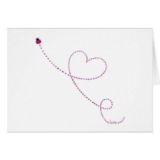 """""""Love Bug"""" Ladybug Greeting Card"""