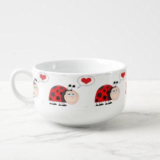 Love Bug Ladybug Soup Bowl With Handle