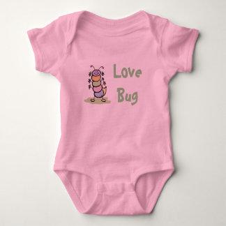 Love Bug (Pink Design) Baby Bodysuit
