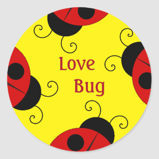 Love Bug Stickers With Ladybugs