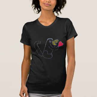 Love Bug Women's Black T-shirt