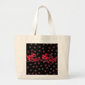 LOVE BUGS by SHARON SHARPE Large Tote Bag