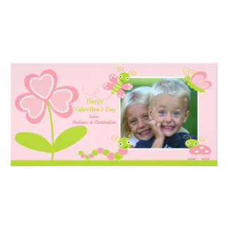 Love Bugs Valentine s Day Photo Card Template