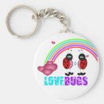 Love bugs Valentine's Day Keychain