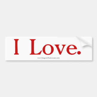 """Love"" bumper sticker"