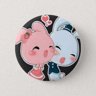 Love Bunnies 6 Cm Round Badge