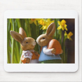 Love bunny mouse pad