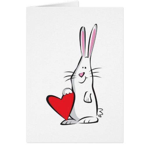 Love Bunny Valentine Greeting Card