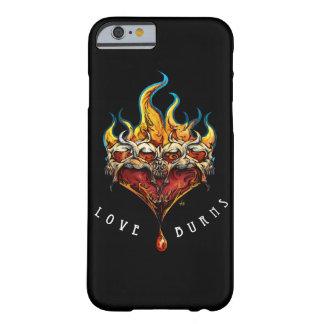LOVE BURNS_ black phone cover