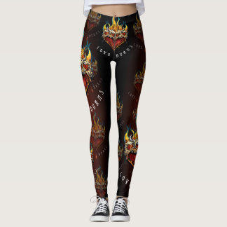 LOVE BURNS_bloodredgradientLeggings Leggings
