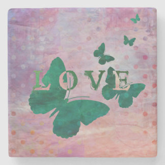 Love, Butterflies and Polka Dots Coasters Stone Coaster