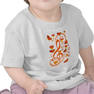 Love & Butterflies,Music notes_ T-shirts