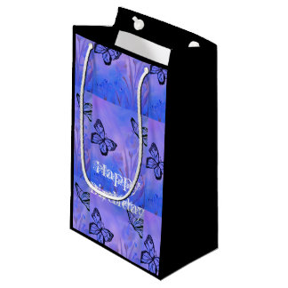 Love butterfly's Happy Birthday Small Gift Bag