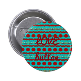 Love Button in Red and Teal