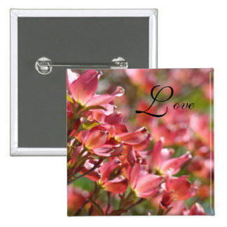 Love Buttons Weddings Bridal Pink Dogwood Flowers