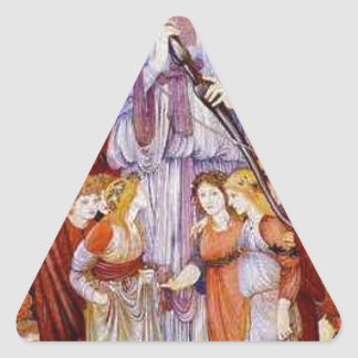 Love by Edward Burne-Jones Triangle Sticker