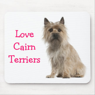 Love Cairn Terrier Puppy Dog Computer Mousepad