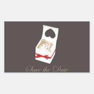 Love Cake Save the Date Rectangular Sticker