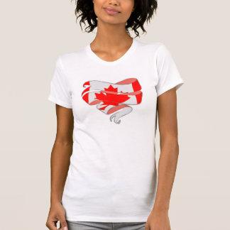Love Canada Heart Ribbon Shirt Template Customize