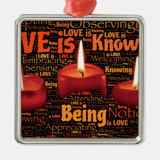 love candle metal ornament