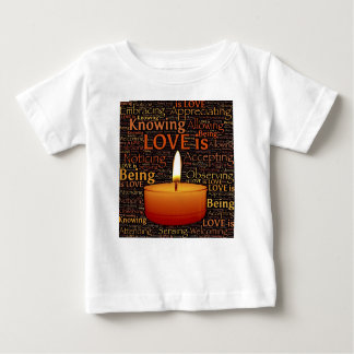 Love, Candle quote Baby T-Shirt