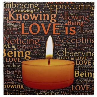 Love, Candle quote Napkin