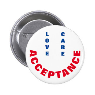 Love, Care, Acceptance 6 Cm Round Badge