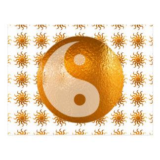 LOVE Care : Sun Energy n YIN YANG Balance Postcard