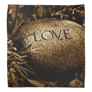 """Love"" Carved Stone Bandana"