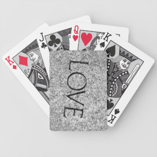 """""""Love"""" Carved Stone Bicycle Playing Cards"""