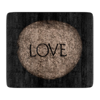 """""""Love"""" Carved Stone Cutting Boards"""