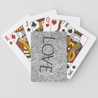 """""""Love"""" Carved Stone Playing Cards"""
