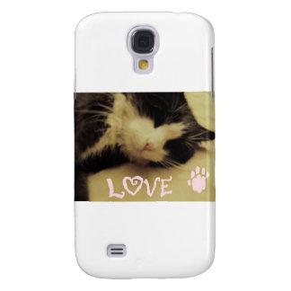 Love Cat Samsung Galaxy S4 Cover