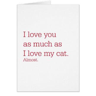 Love Cat Greeting Card