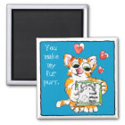 Love Cat Upload-Your-Photo Valentine Magnet