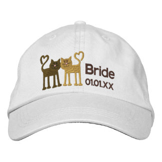 Love Cats Embroidered Hat