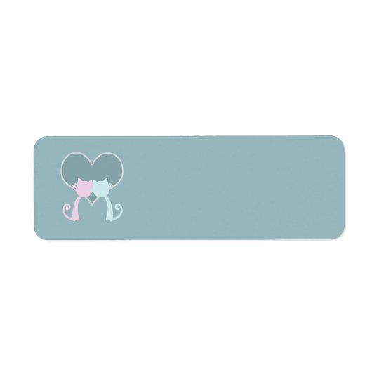 Love Cats Wedding Return Address Label
