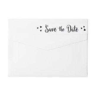 Love Celebration Save The Date Wraparound Label Wraparound Return Address Label